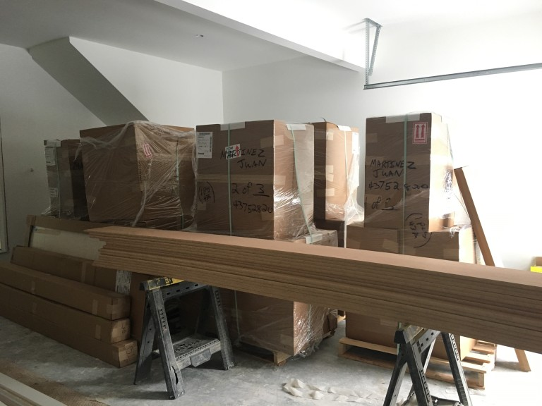 new kitchen in boxes