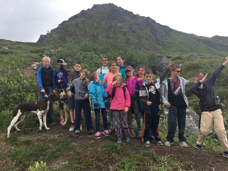 JUNE kids hiking