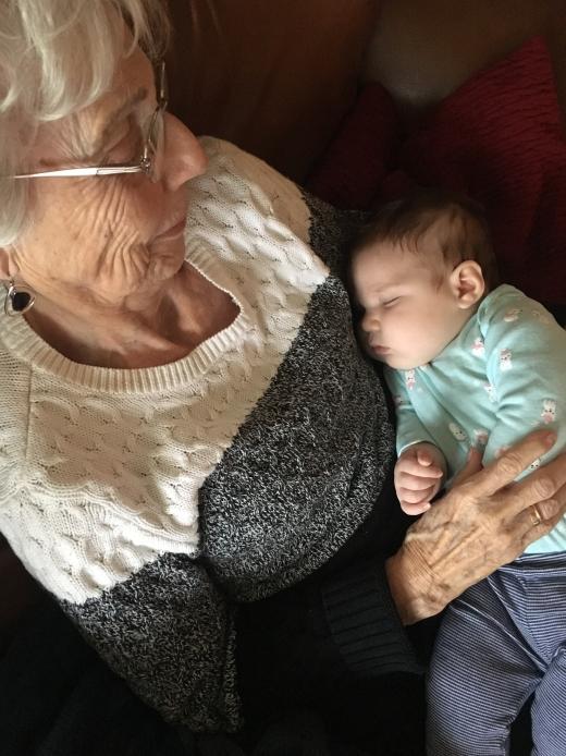 grandma holding esperanza