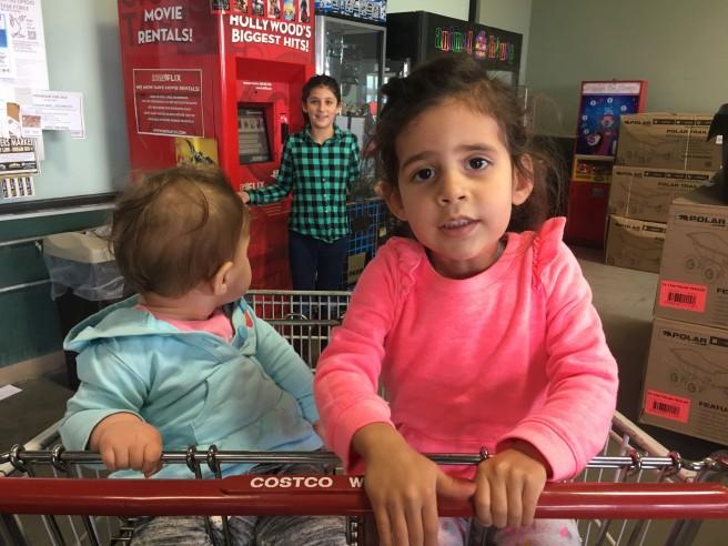 OCT grocery cart girls