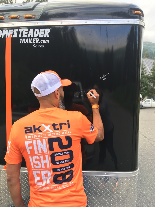 signing the race trailer